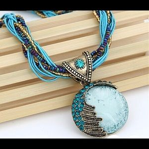 Gem Crystal Multilayer Beads Chain Bohemia